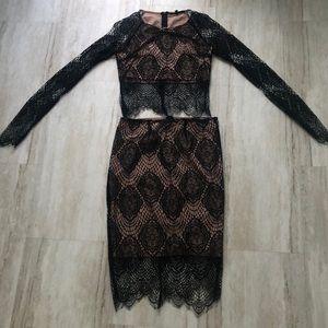 Olivaceous Skirt Set